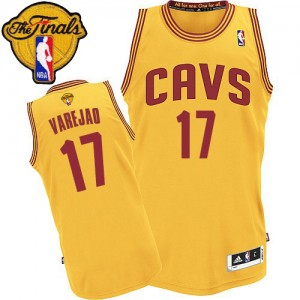 Maillot Authentic Cleveland Cavaliers NBA Alternate 2015 The Finals Patch Or - #17 Anderson Varejao - Homme