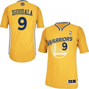 Maillot Adidas Or Alternate Authentic Golden State Warriors - Andre Iguodala #9 - Homme