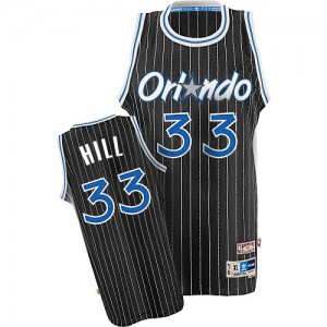 Maillot Adidas Noir Throwback Authentic Orlando Magic - Grant Hill #33 - Homme