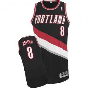 Maillot NBA Noir Al-Farouq Aminu #8 Portland Trail Blazers Road Authentic Homme Adidas