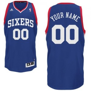 Maillot Philadelphia 76ers NBA Alternate Bleu royal - Personnalisé Swingman - Homme