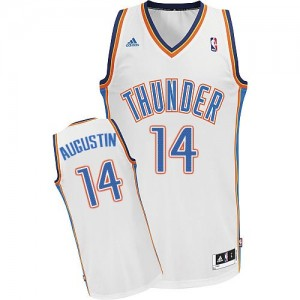 Maillot NBA Swingman D.J. Augustin #14 Oklahoma City Thunder Home Blanc - Homme