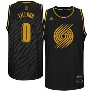 Portland Trail Blazers #0 Adidas Precious Metals Fashion Noir Authentic Maillot d'équipe de NBA Vente pas cher - Damian Lillard pour Homme
