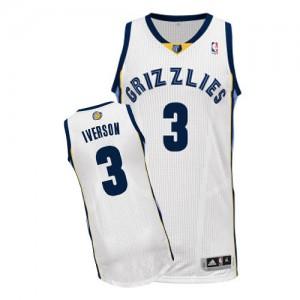 Maillot NBA Authentic Allen Iverson #3 Memphis Grizzlies Home Blanc - Homme