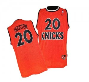 New York Knicks #20 Nike Throwback Orange Authentic Maillot d'équipe de NBA Braderie - Allan Houston pour Homme
