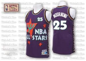 Charlotte Hornets #25 Adidas Throwback 1995 All Star Violet Swingman Maillot d'équipe de NBA en vente en ligne - Alonzo Mourning pour Homme
