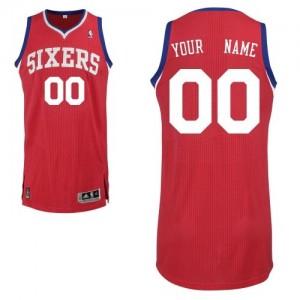 Philadelphia 76ers Authentic Personnalisé Road Maillot d'équipe de NBA - Rouge pour Enfants