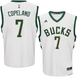 Maillot Adidas Blanc Home Authentic Milwaukee Bucks - Chris Copeland #7 - Homme