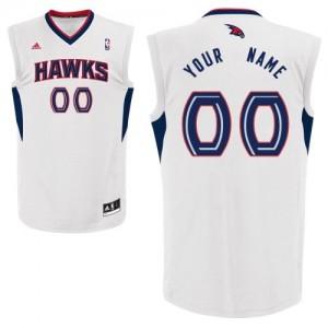 Maillot NBA Atlanta Hawks Personnalisé Swingman Blanc Adidas Home - Enfants