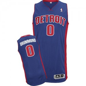 Detroit Pistons Andre Drummond #0 Road Authentic Maillot d'équipe de NBA - Bleu royal pour Homme