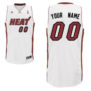 Miami Heat Personnalisé Adidas Home Blanc Maillot d'équipe de NBA Le meilleur cadeau - Swingman pour Homme