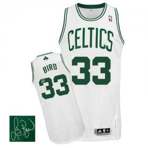 Boston Celtics Larry Bird #33 Home Autographed Authentic Maillot d'équipe de NBA - Blanc pour Homme