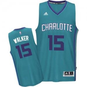Maillot NBA Charlotte Hornets #15 Kemba Walker Bleu clair Adidas Swingman Road - Homme