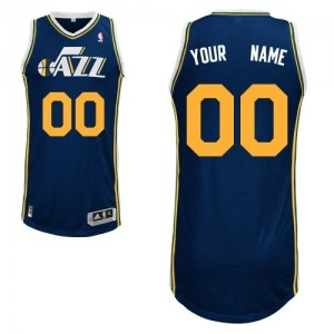 Maillot NBA Utah Jazz Personnalisé Authentic Bleu marin Adidas Road - Homme
