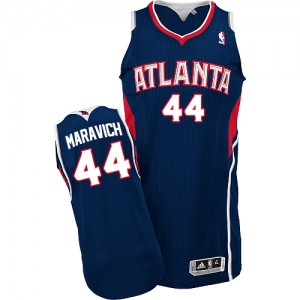 Maillot Adidas Bleu marin Road Authentic Atlanta Hawks - Pete Maravich #44 - Homme