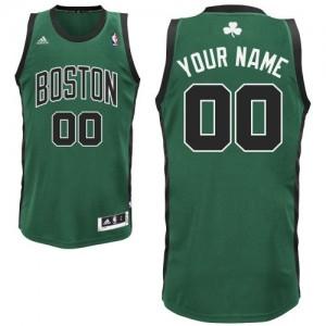Maillot NBA Vert (No. noir) Swingman Personnalisé Boston Celtics Alternate Enfants Adidas