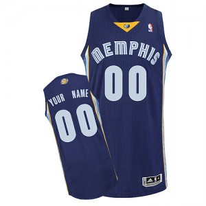 Maillot NBA Authentic Personnalisé Memphis Grizzlies Road Bleu marin - Enfants
