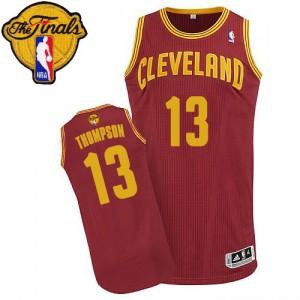 Cleveland Cavaliers #13 Adidas Road 2015 The Finals Patch Vin Rouge Authentic Maillot d'équipe de NBA Vente pas cher - Tristan Thompson pour Homme