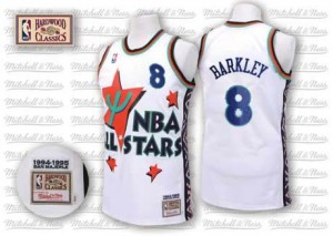 Phoenix Suns Charles Barkley #8 Throwback 1995 All Star Swingman Maillot d'équipe de NBA - Blanc pour Homme