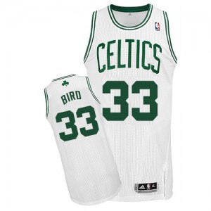 Maillot NBA Authentic Larry Bird #33 Boston Celtics Home Blanc - Homme