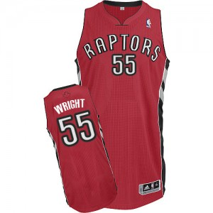 Maillot NBA Rouge Delon Wright #55 Toronto Raptors Road Authentic Homme Adidas