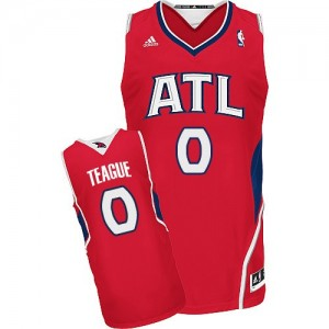 Maillot NBA Swingman Jeff Teague #0 Atlanta Hawks Alternate Rouge - Homme