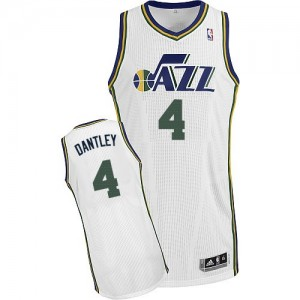Maillot NBA Authentic Adrian Dantley #4 Utah Jazz Home Blanc - Homme