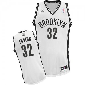 Maillot Adidas Blanc Home Swingman Brooklyn Nets - Julius Erving #32 - Homme