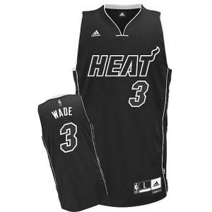 Maillot Adidas Noir Shadow Swingman Miami Heat - Dwyane Wade #3 - Homme