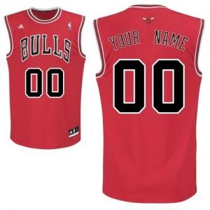 Maillot NBA Rouge Swingman Personnalisé Chicago Bulls Road Enfants Adidas