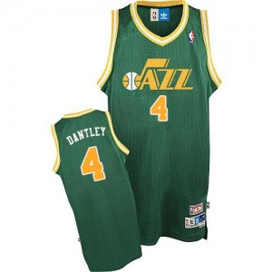 Maillot Authentic Utah Jazz NBA Throwback Vert - #4 Adrian Dantley - Homme