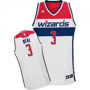 Maillot NBA Blanc Bradley Beal #3 Washington Wizards Home Swingman Homme Adidas