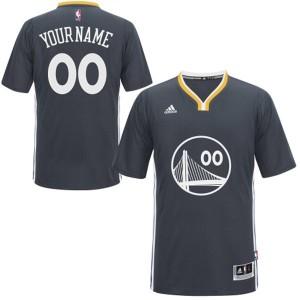 Maillot NBA Golden State Warriors Personnalisé Authentic Noir Adidas Alternate - Enfants