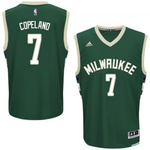 Maillot NBA Milwaukee Bucks #7 Chris Copeland Vert Adidas Swingman Road - Homme