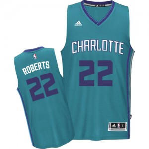 Maillot NBA Bleu clair Brian Roberts #22 Charlotte Hornets Road Authentic Homme Adidas