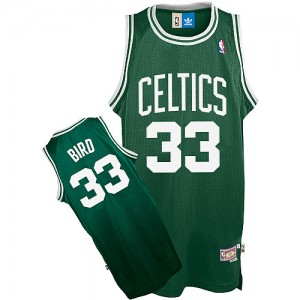 Maillot Adidas Vert Throwback Authentic Boston Celtics - Larry Bird #33 - Enfants