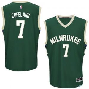 Milwaukee Bucks #7 Adidas Road Vert Authentic Maillot d'équipe de NBA Vente pas cher - Chris Copeland pour Homme