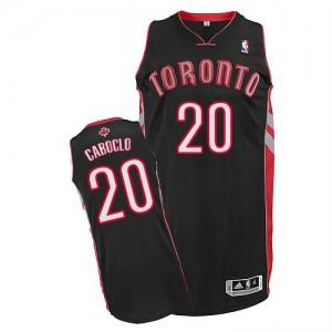 Toronto Raptors Bruno Caboclo #20 Alternate Authentic Maillot d'équipe de NBA - Noir pour Homme