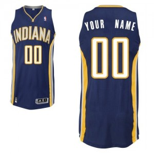 Maillot Adidas Bleu marin Road Indiana Pacers - Authentic Personnalisé - Homme