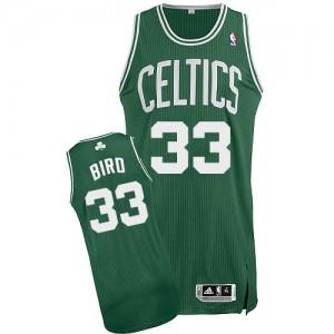 Boston Celtics #33 Adidas Road Vert (No Blanc) Authentic Maillot d'équipe de NBA pas cher - Larry Bird pour Homme