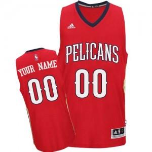 Maillot NBA New Orleans Pelicans Personnalisé Swingman Rouge Adidas Alternate - Femme