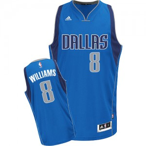 Maillot NBA Dallas Mavericks #8 Deron Williams Bleu royal Adidas Swingman Road - Homme