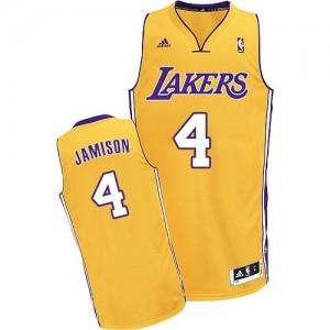 Maillot NBA Swingman Byron Scott #4 Los Angeles Lakers Home Or - Homme