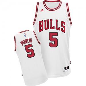 Maillot NBA Swingman Bobby Portis #5 Chicago Bulls Home Blanc - Homme