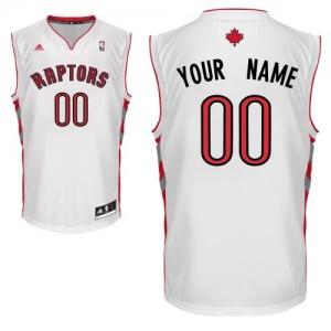 Toronto Raptors Personnalisé Adidas Home Blanc Maillot d'équipe de NBA en vente en ligne - Swingman pour Homme