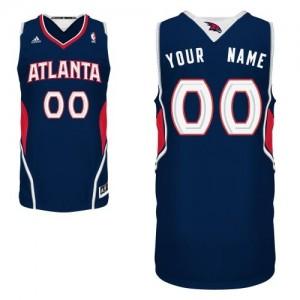 Atlanta Hawks Personnalisé Adidas Road Bleu marin Maillot d'équipe de NBA pour pas cher - Swingman pour Homme
