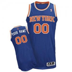New York Knicks Personnalisé Adidas Road Bleu royal Maillot d'équipe de NBA Magasin d'usine - Authentic pour Homme