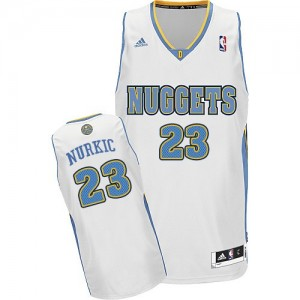 Maillot Adidas Blanc Home Swingman Denver Nuggets - Jusuf Nurkic #23 - Homme