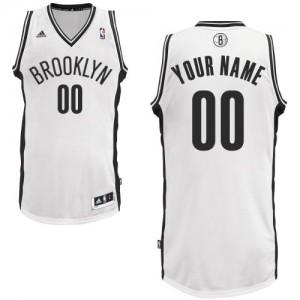 Brooklyn Nets Swingman Personnalisé Home Maillot d'équipe de NBA - Blanc pour Homme
