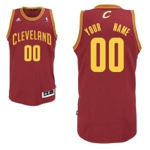Cleveland Cavaliers Personnalisé Adidas Road Vin Rouge Maillot d'équipe de NBA Expédition rapide - Swingman pour Enfants